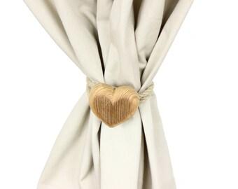 "Curtain tieback ""Knob Heart"" (Medium)"