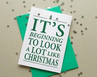 Christmas Cards, Christmas Card Set, 5 Cards, Holiday Card Set, Happy Holidays, Christmas Card Pack, Christmas Wishes, Cards For Christmas