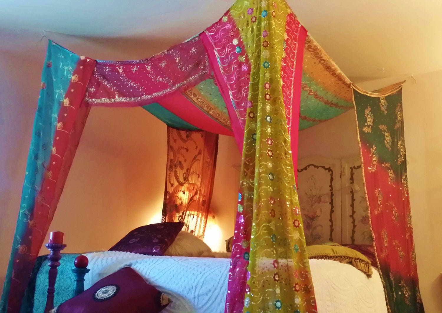 Gypsy Decor Bedroom Gypsy Bedroom Boho Bed Canopy Bali Made Order Gypsy Hippie Hippy