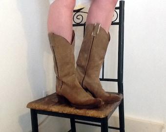 ON SALE Tony Lama Suede Cowboy Boots *were 50.00*
