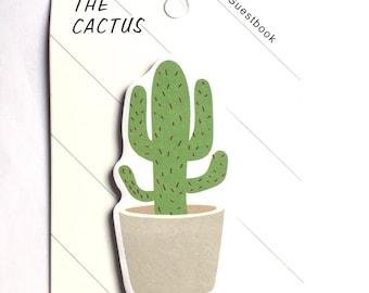 Cactus memo pad