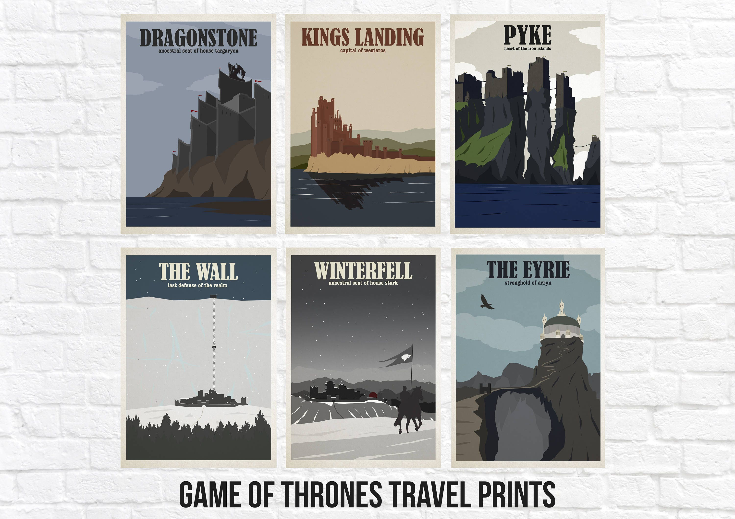 Game of Thrones Travel Poster Sets Kings Landing
