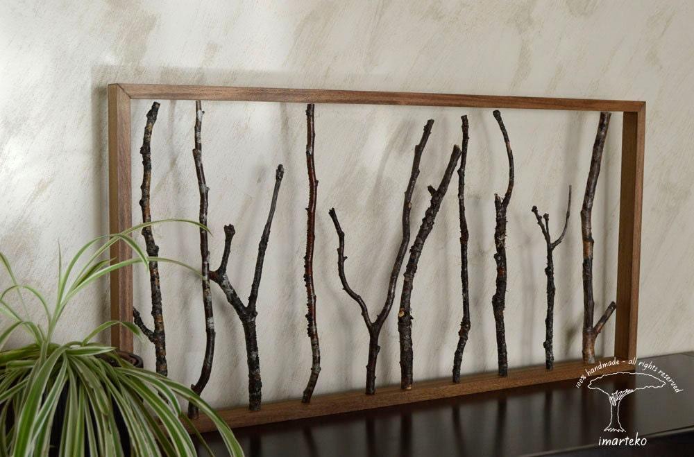 Escultura de pared decoraci n con ramas de rbolmadera - Esculturas decoracion ...