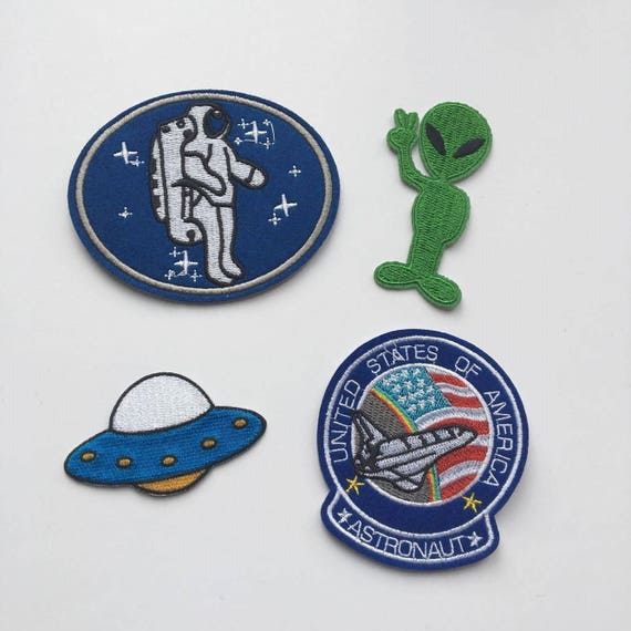 Outer Space Iron on Patch Set