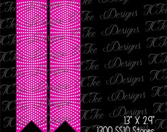 Cheer Bow Rhinestone Template Download - SVG