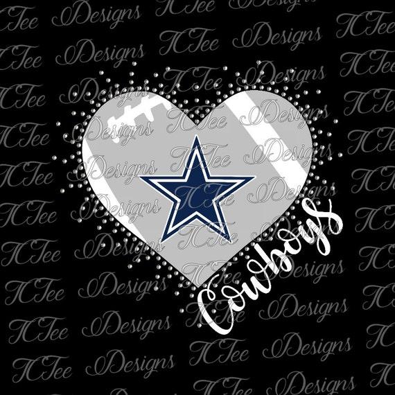 Download Cowboys Heart - Love My Cowboys - Mixed Media - Rhinestone ...