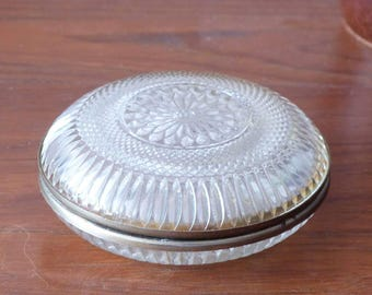 Crystal box - Decorative box - Trinquet box - jewellery box - mid century - south of France