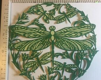 """intricate seasons  die cut """" Dragonfly"""""""