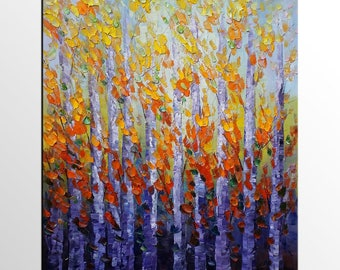 Tree Painting, Oil Painting, Canvas Art, Abstract Painting, Original Art, Abstract Art, Wall Art, Canvas Painting, Landscape Oil Painting