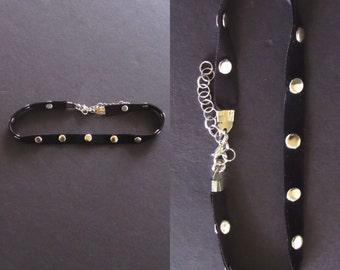Black velvet choker. CHOKER. Velvet necklace. Velvet choker necklace. Velvet jewelry. Velvet choker jewelry. Biker babe. Motorcycle babe.