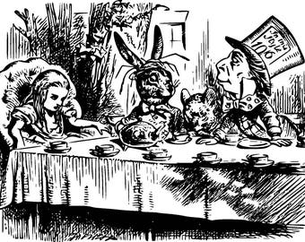 Alice In Wonderland Colouring Pages