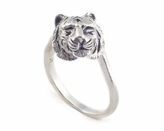 Silver Tiger Ring by Bill Skinner