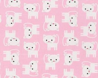 Ann Kelle for Robert Kaufman - Urban Zoologie Kittens Pink (Half metre)