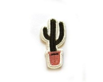 Embroidered Cactus Appliqué