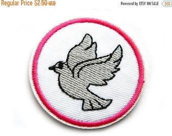 HALF PRICE Peace Dove Embroidered Patch Appliqué