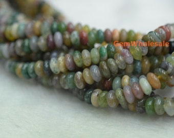 "15.5"" 6x3mm Indian agate rondelle beads, Indian agate disc beads, Indian agate roundel beads 6x3mm, multi color agate"