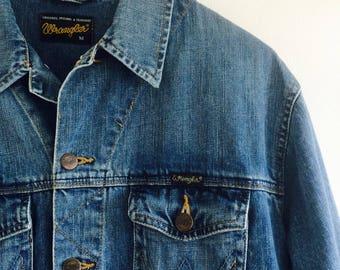 Vintage Wrangler jeansjacket |wrangler jeanscoat | Vintage jeanscoat | jeanscoat | denimcoat | Vintage denimcoat.| Size M