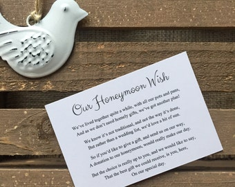 10 Honeymoon Wish Cards