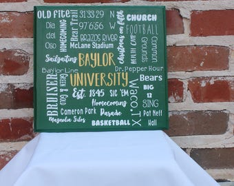College-themed collage board