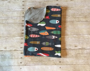 Fishing Lure Receiving Blanket