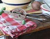 Green Handled Egg Beater, Green Egg Beater, Egg Beater with Green Handle, A & J Hand Mixer with Green Handle for Your Farmhouse Kitchen