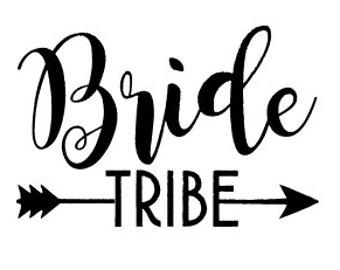 Bride/Bride Tribe Iron On heat transfer