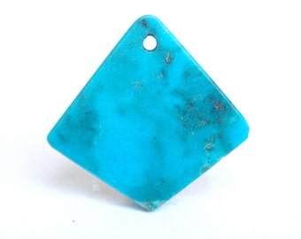 Top drilled turquoise - turquoise pendant - jewelry making stone supplies - semiprecious - authentic turquoise cabochon - stone cabochon