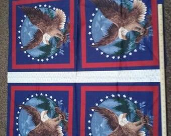 Wamsutta Patriotic Eagle Fabric Panel
