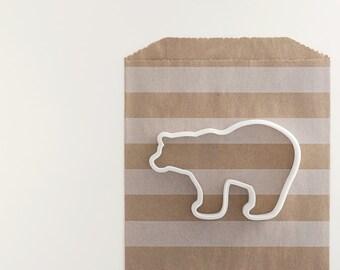 Polar Bear Cookie Cutter - Holiday Cookie Cutter - Polar Bear Cookies - Christmas Cookies - Christmas Polar Bear - Cookie Cutters