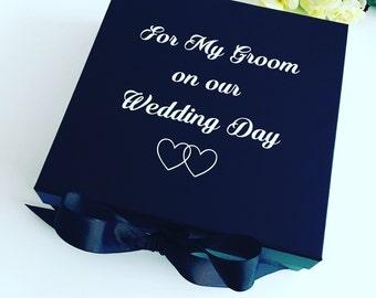 Groom box, groom gift box, wedding gift box for groom, husband to be box, wedding box for him