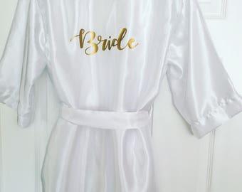 FULL LENGTH Bridal gown, bridal robe, bridesmaid robe, maid of honour robe, wedding robe, personalised robe