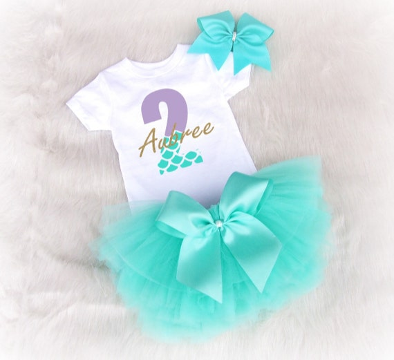 Second Birthday Outfit Mermaid Second Birthday Outfit