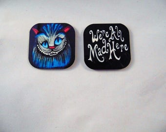 Cheshire Cat Alice In Wonderland Inspired Magnet Set