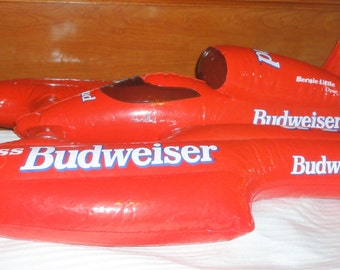 Vintage 1996 Budweister Inflatable  Ad Boat
