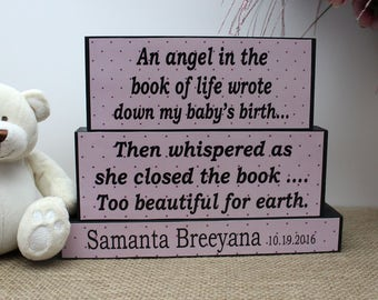 Baby Memorial Gift, Loss Of A Child, Stillborn Baby, Miscarriage Memorial, Infant Bereavement, Baby in Heaven, Twins Memorial, Angel Baby