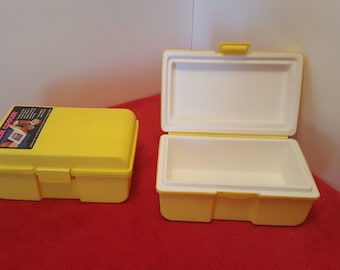 vintage yellow clik cooler set of 2 / juice box coolers / Insulated lunch box containers