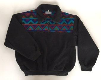 Vintage Fleece Chevron Pullover Ladies XL