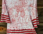 """RESERVED for Heidi - Do Not Buy! :-) OOAK Designer Women's Tunic Top Made From Upcycled Clothing """"Moulin Rouge"""""""
