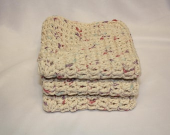 Crochet Dish Cloth Set