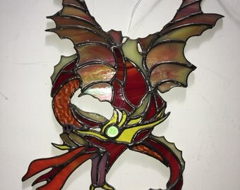 Dragons, Stained Glass Dragon, Dragon Wings