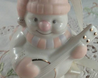 Vintage Snowman Lenox Christmas Ornament   Christmas Tree Ornament Snowman Decoration