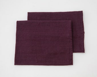 Linen Kitchen Deep Purple TEA TOWEL SET - 66cmx48cm