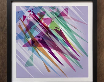 Abstract Colourful shapes Framed Art Print Geo-ART105