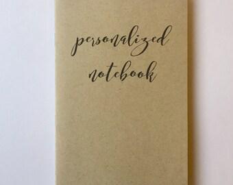 Personalized Notebook Journal, Premium Custom Journal, Custom Notebooks, Custom Name Notebook, Personalized Gift, custom journals, logo free