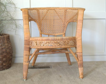 Barrel Chair Etsy