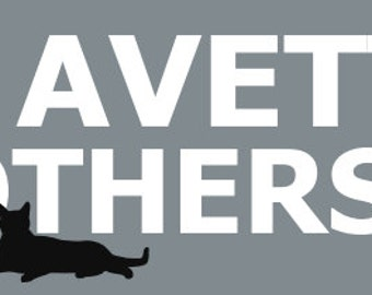 Avett Brothers Cat Bumper Sticker