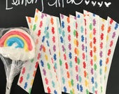 10 Count, Fabric Washi, Mustache Rainbow