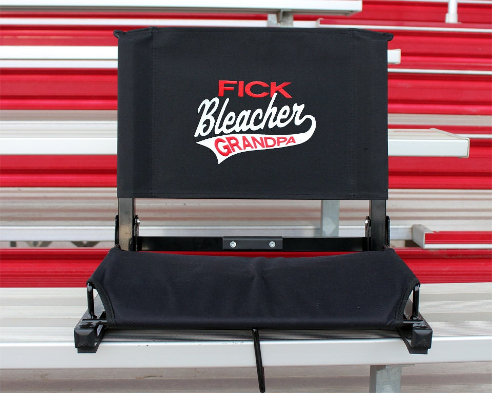 personalized stadium chair bleacher seat personalized