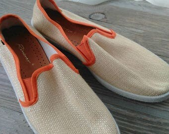Vintage Riviera's boat shoe, Riviera,mens,39, 60's 70's,summer, Beach bum,Sailor,Old fashioned
