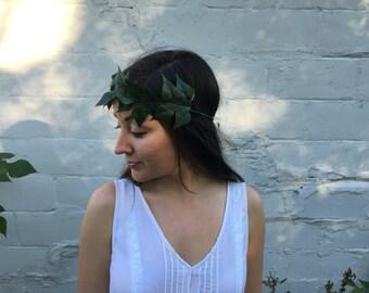 Green Ivy Flower Crown